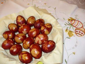 tojásfestés batikolással
