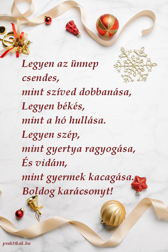 karácsonyi üdvözlet, boldog karácsonyt