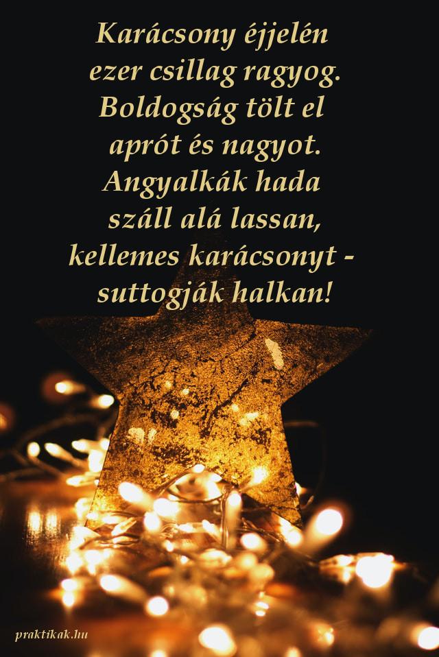 karácsonyi üdvözlet csillag
