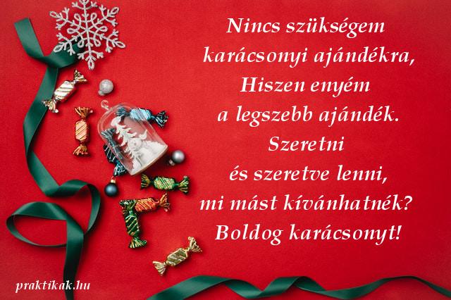 karácsonyi üdvözlet szerelmemnek