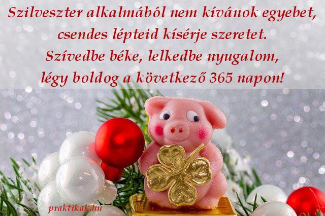 újévi jókívánság, malac, lóhere