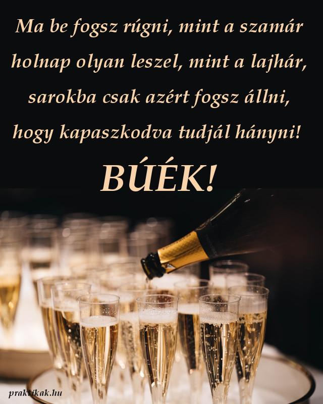 vicces újévi köszöntő, pezsgő