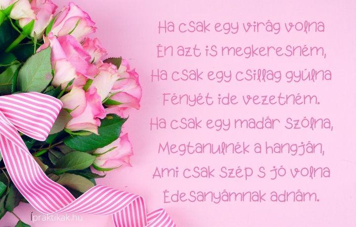 anyák napi vers, ha csak egy virág volna