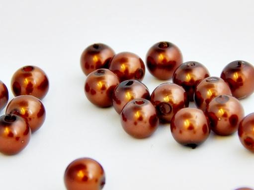 csoki színű műanyag tekla gyöngy