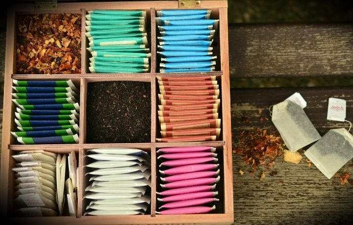 teafilter tartó